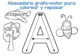 DESCARGA EL ARCHIVO EN PDF Abecedario Grafomotor Para Colorear Y