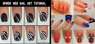 Easy Spiderman Nail Art Tutorials For Beginners Learners 2014