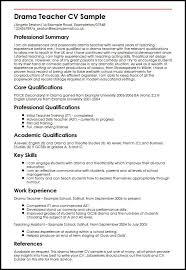 Drama Teacher CV Sample