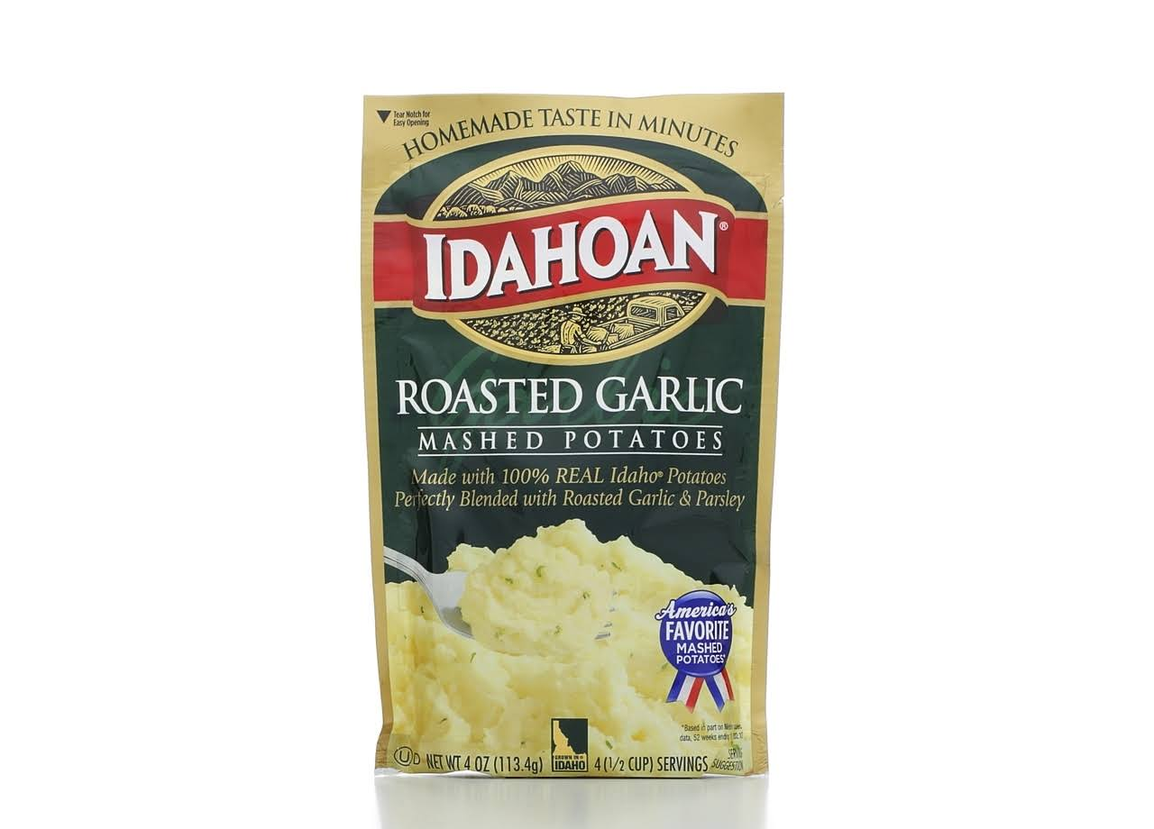 Idahoan Roasted Garlic Mashed Potatoes - 4oz