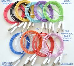 "NTJ¢""¢ 3FT HOT SMILE¢""¢ LED LIGHT UP DATA SYNC CHARGER USB CABLE"