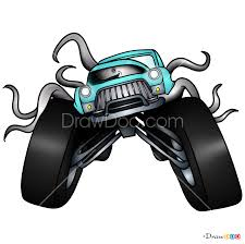 100 How To Draw A Monster Truck Step By Step To Creech And Car S