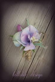Lavender Thistle Rustic Wedding Boutonniere