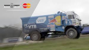Mighty Red Bull Kamaz Truck Jumps At #FOS! - YouTube