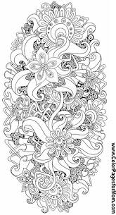 Free Printable Advanced Coloring Pages For Adults 15 Flower Abstract Doodle Zentangle ZenDoodle Paisley