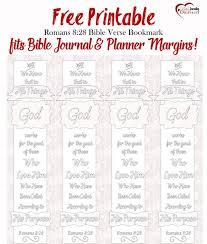 Free Bible Verse Coloring Bookmark Fits Journal Planner Margins