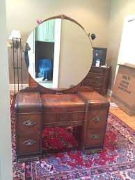 Waterfall Vanity Dresser Set by Vanity My Antique Furniture Collection