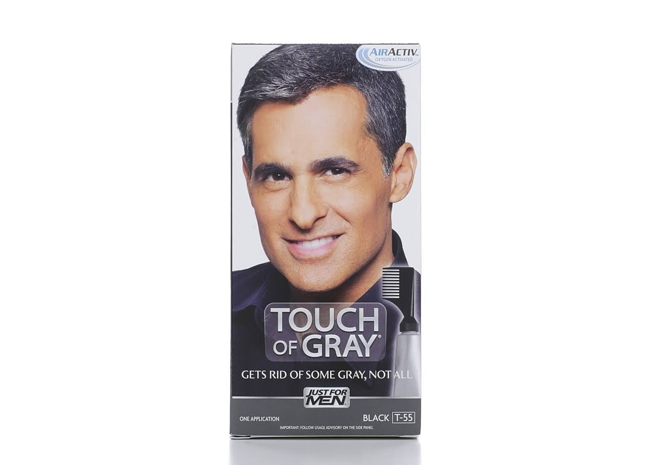 Touch of Gray Men's Hair Color - T-55 Black