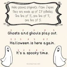 Poems About Halloween For Kindergarten by Halloween Haiku Templates Google Search Projects To Try