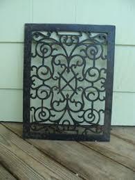 antique vintage building salvage rust metal heat vent grate floor