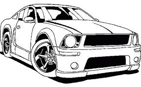 Mustang Racing Coloring Page Car Pages