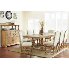 Wayfair Dining Room Side Chairs by Steve Silver Plymouth Dining Table Oiled Oak Hayneedle