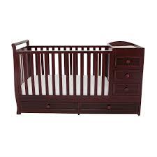 Sorelle Dresser Remove Drawers by Sorelle Newport 2 In 1 Crib U0026 Changer Combo Merlot Walmart Com