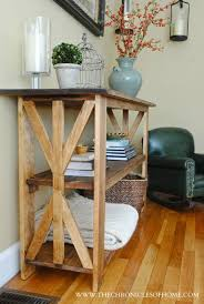 Enchanting Rustic Console Table DIY And Diy X Base The Chronicles Of Home