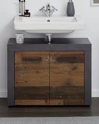 waschbeckenunterschrank used wood grau vintage bad unterschrank waschtisch 70 cm indy