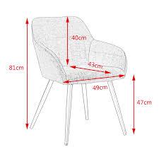 woltu 4 x esszimmerstühle 4er set esszimmerstuhl küchenstuhl polsterstuhl design stuhl mit armlehne mit sitzfläche aus
