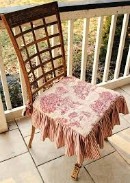 Surprising Dining Room Chair Cushions With Ruffles Awesome Best Images On Toile Rocking