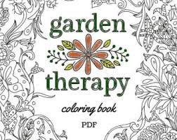 Printable Garden Lovers Coloring Book For Gardeners And Nature
