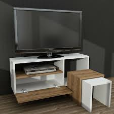 Living Room Furniture Set TV Stand Cabinet Unit Cupboard 2 Side Tables Stowaway
