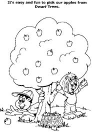 Apple Tree Coloring Pictures 1