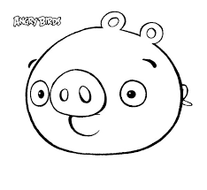 Cute Angry Bird Pigs Coloring Pages