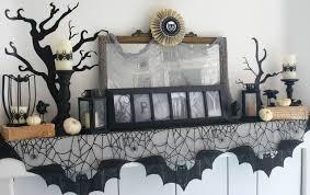 Halloween Fireplace Mantel Scarf by Starshine Chic Spooky Halloween Mantel