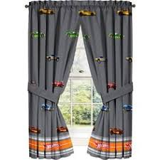 Checkered Flag Curtains Uk by 2 Window Curtain Panels Made From Cotton Nascar Race Or Retro