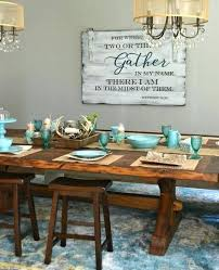 Dining Room Wall Art Ideas Gather Sign By Weaver Designs For A Kitchen And