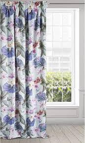eurofirany alia gardine vorhang satin blumen muster kräuselband matt modern lounge bunt wohnzimmer schlafzimmer 1 stk 140x270cm