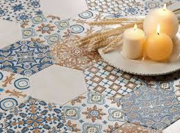 hexagon mosaic tile patterns design ideas ideas for interior