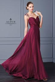 2016 newest burgundy prom dresses long beading crystal beaded see