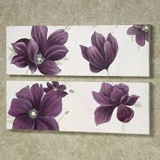 Wall Art Designs Top Purple Canvas Uk Floral