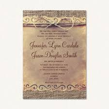 Burlap Rustic Wedding Invitations With Background Vintage Paper And Twine