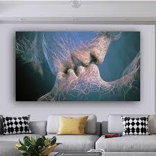 wand kunst liebe küssen leinwand malerei abstrakte poster bilder für wohnzimmer schlafzimmer moderne dekoration home decor unframed