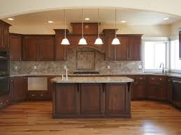 Wood Floor Dark Cabinets Lighter Tan Or Brown Counter