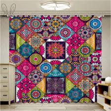 bunte islam arabisch indische vorhänge für fenster vintage muster wohnzimmer vorhang schlafzimmer blackout gardinen rideaux