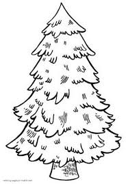 Christmas Tree Coloring Page Print Out by Not Decorated Christmas Tree Coloring Pages