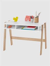 bureau enfant en bois bureau spécial primaire ligne architekt blanc bois blanc blanc