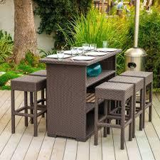 wicker bar height patio set patio ideas patio furniture sets bar height among white umbrella