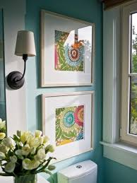 Framed Fabric Cheap Idea For Walls OR Use Colorful Scrapbook Paper
