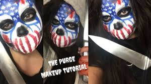 Halloween Purge Mask Uk by The Purge Election Year Makeup Youtube