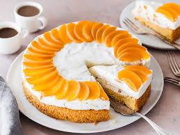 pfirsich torte einfache obsttorte mit quarkcreme