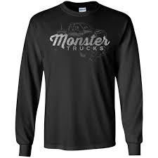 100 Monster Truck T Shirts S Vintage Retro Big Lover LS ShirtHoodie