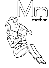 Unbelievable Design M Coloring Pages Letter Mother