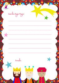 Carta Para Escribir A Los Reyes Magos De Oriente En Clave De Niños