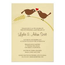 Love Bird Rustic Wedding Anniversary Invitations