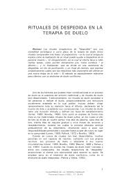 PDF RITUALES DE DESPEDIDA EN LA TERAPIA DE DUELO