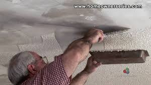 Scraping Popcorn Ceiling Off by How To Fix Drywall Removing Popcorn Texture Drywall Repair