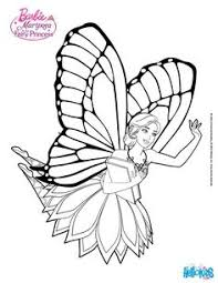 Mariposa Is Greeted By The Fairies Of Flutterfield More Barbie Coloring Page On Hellokids