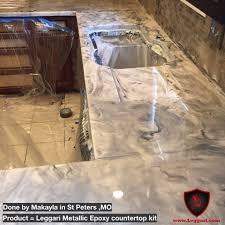 Bath Resurfacing Kits Diy by This Countertop Was Coated With A Leggari Products Diy Metallic
